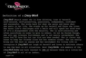 Crazy Bitch Defined!