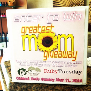 Enter Win Spa Gift Card And Certificate From Ruby
