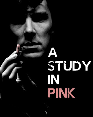 Sherlock BBC Poster: A Study in Pink by BradyMajor