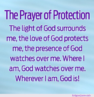 Religious prayer for protection.