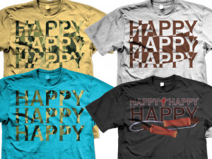 Happy Camouflage Redneck Quote Shirts