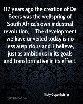 Beers was the wellspring of South Africa's own industrial revolution ...