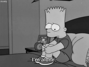 alone the simpsons bart bart simpson Los Simpsons i feel alone