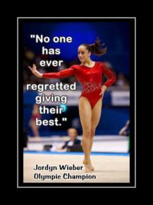 Gymnastics Poster Jordyn Wieber Gymnast Photo Quote Wall Art Print 5x7 ...