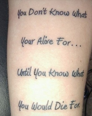 "deep and thoughtful tattoo. However, I'm afraid to say – ""your ..."