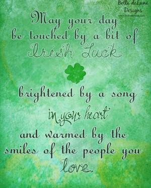 IRISH LUCK Inspirational Quote Irish Blessing Print 8x10 St. Patrick's ...