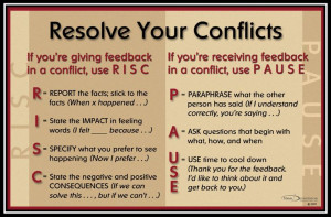 Leadership. Resolving Conflict.