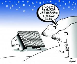 Cartoon: solar bear (medium) by toons tagged polar,bears,solar,energy ...