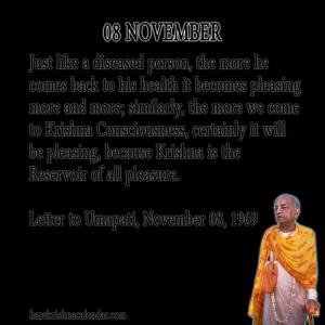 Srila Prabhupada Quotes For Month November 08