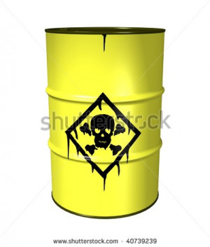 Toxic Waste Barrel Costume Ref