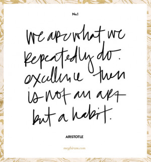 Is a Habit Aristotle Quotes Excellence