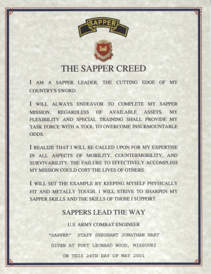 ... Stars, Creed Combat, Sapper Creed, Engine Sapper, Mountain Engine