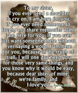 sister quotes sister quotes and sayings love my big sister sister ...