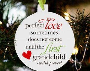 first grandchild Christmas ornament - announcing pregnancy christmas ...