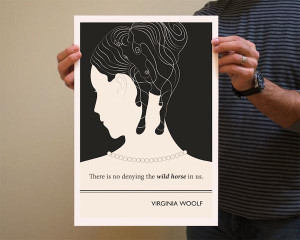 Book Quote Virginia Woolf Poster Illustration by Evan Robertson