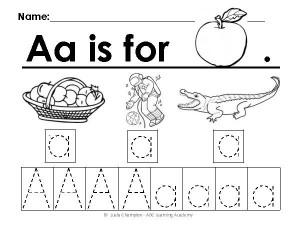 First Grade Alphabet Worksheets
