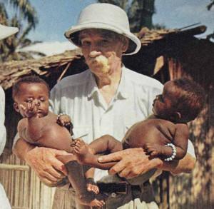 Albert Schweitzer in Africa.