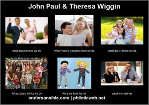 John Paul and Theresa Wiggin