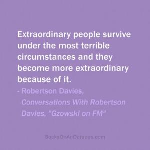 "... Robertson Davies, ""Gzowski on FM"" #quote #quoteoftheday #quotes #"