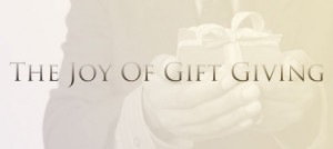 """... : 'It is more blessed to give than to receive.'"""" – Acts 20-35"""