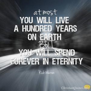 ... rick warren quote 5 reasons why eternity matters rick warren quote