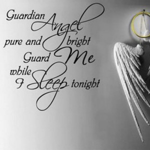 Wall Vinyl Decal Quote Sign Guardian Angel DIY Art Sticker Home Wall ...