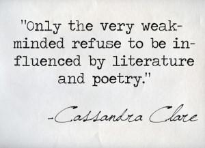 quote text quotes lit books poetry Reading Literature Cassandra Clare ...