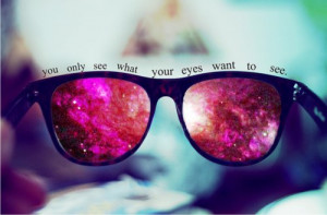 clouds, pink, quote, sunglasses
