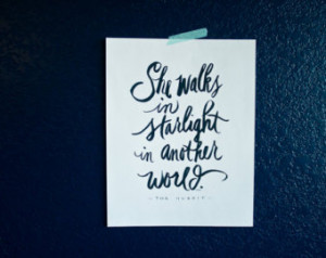 Love Quote, Tolkien Quote, Hobbit Quote, Starlight, Couples, Wedding ...
