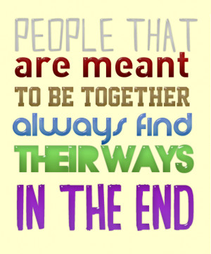 The Couple's That Are Meant to Be Quotes