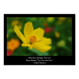 flora_photo_of_yellow_flower_with_quote_poster ...