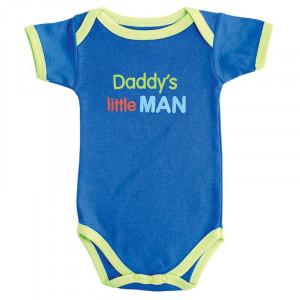 Baby Boy Romper Family Sayings daddy's little man Short sleeve ...