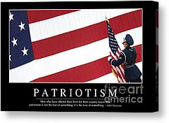 Patriotic Sayings Canvas Prints - Patriotism Inspirational Quote ...