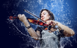 Girl violin water wallpapers and images