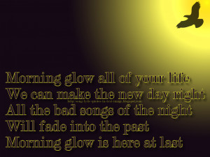 Morning Glow - Michael Jackson Song Lyric Quote in Text Image