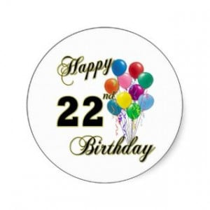 22nd Birthday Quotes
