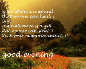 So beautiful evening quotes