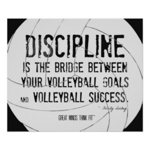 Motivational Volleyball Print Black And White