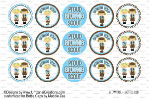 Girl Scout Brownie Bottle Cap