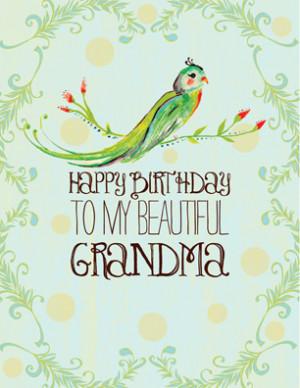 Happy Birthday To My Beautiful Grandma.