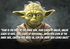 ... at the dark side careful you must be for the dark side looks back yoda