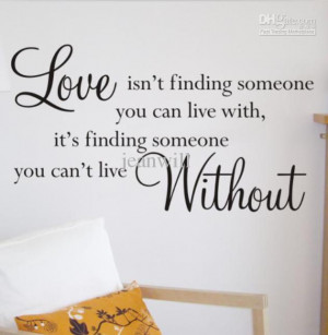 Design Graphic Vinyl Art Love Without Wall Quote Decal Sticker Decor ...