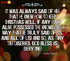 Charles Dickens Christmas Carol Quotes God Bless Us ~ A Christmas ...