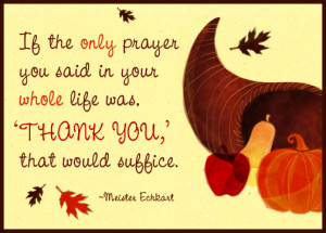 Giving Thanks…