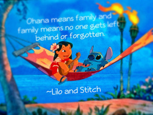 disney, family, hawaii, lilo and stitch, ohana, quote, ten flames