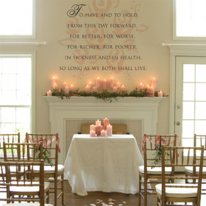 Wedding Ceremony Fireplace Mantle Candle Decor