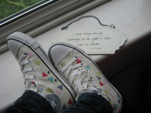 Converse + quotes by Rainbow-pixie