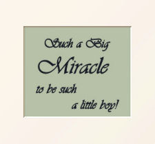 Baby boy miracle nursery wall quotes sayings