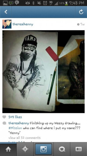 Nice drawing of @Jacklyn Shelton #ymcmb by #therealhenny #certified # ...