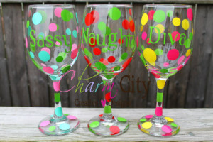 Wine Glass Personalized with Cute Sayings valentines day birthday ...
